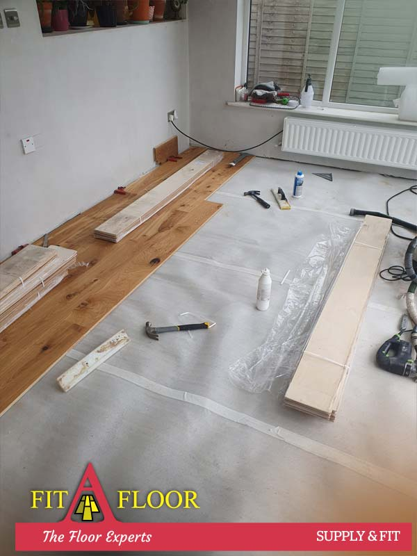 Engineered oak floors supplied and fitted