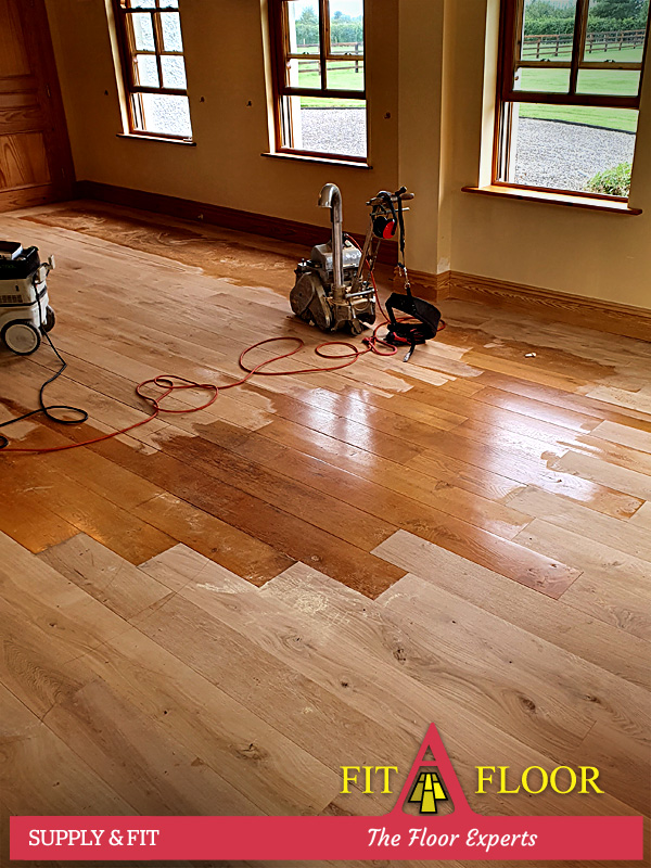 Manor House Kildare blending existing and newly fitten French oak floors